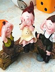 3pcs lindo de la historieta del estilo europeo tres muñeca-ninguno de tareas pendientes para la decoración o regalos juguetes mesa de resina