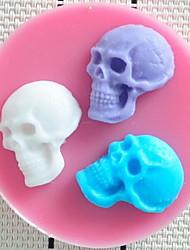 Rosalie Halloween Human Skeleton Skull Fondant Cake Chocolate Candle Silicone Mold S1903812