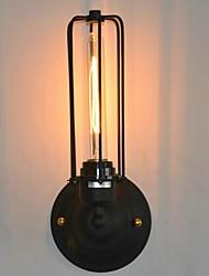 lámpara de pared de hierro de época americana