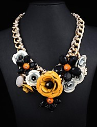 Women's metal Flower Luxury Necklace