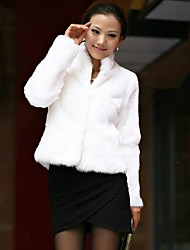 Women's Korean Slim Fur Jacket Warm Winter Fur Coat