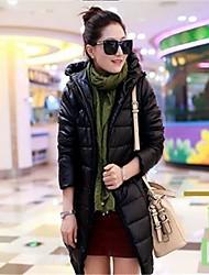 à capuchon mince occasionnel plus la taille manteau d'hiver de yibeier®women