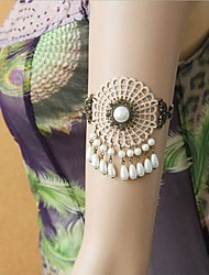 Handmade Back-to-ancients Beige Lace Classic & Traditional Lolita Armlet