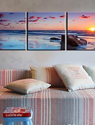 Trasferimenti su tela Art Landscape grande mare blu Set di 3