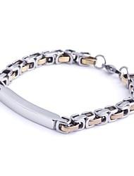 herenmode persoonlijkheid goud titanium stalen vierkante armbanden