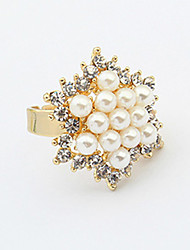 anillo de la perla elegante de las mujeres btime