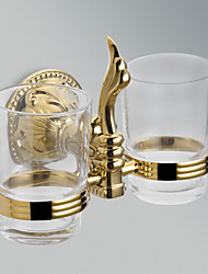 "Toothbrush Holder Ti-PVD Wall Mounted 210 x 185 x 80mm (8.26 x 7.28 x 3.14"") Brass Antique"