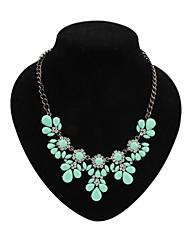 Women's EU&US Fashion Candy Flowers Cluster Sweatershirt Bib Necklace