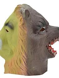 SYVIO león de látex de alta calidad y de la cabeza del lobo de Halloween del slip-on máscara
