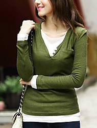Women's Fashion Sweet Bodycon Wool Blends Pullover