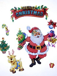 41*29cm Fancy Christmas Decoration Santa Claus Aeolian Bells Stickers Stickers