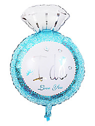 le ballon de partie du jour de diamant bleu bague en aluminium membrane mariage valentine