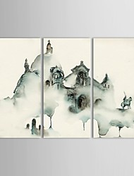 IARTS®Hand Painted Oil Painting Landscape  Castles with Stretched Frame Set of 3