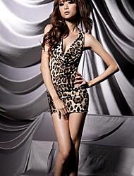 moda sem encosto leopardo lingerie Xiaolu mulheres