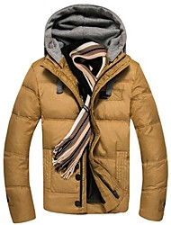 мужская чистый цвет пальто куртки вниз