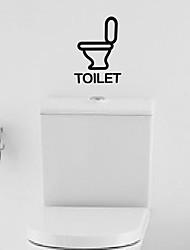 Cartoon Toilet logo Toilet Sticker