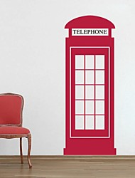 JiuBai™ Telephone Box Wall Sticker Wall Decal