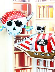 crâne pirate corsaire fête d'anniversaire de membrane en aluminium jour hallowmas ballon ensemble de tous les saint
