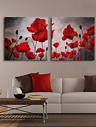Personalized Canvas Print Blooming Poppies 30x30cm  40x40cm  60x60cm  Framed Canvas Painting  Set of 2