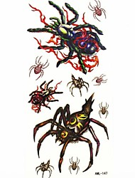 Waterproof Spider Temporary Tattoo Sticker Tattoos Sample Mold for Body Art(18.5cm*8.5cm)