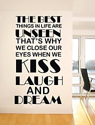 Wall Stickers Wall Decals, Kiss Laugh and Dream Wall Stickers