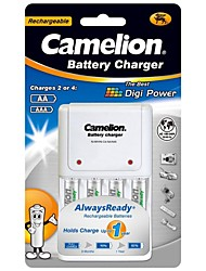 camelion chargeur standard pour / batterie aaa aa avec des batteries rechargeables 4pcs 600mah AlwaysReady Ni-MH AAA
