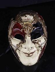 Masque Cosplay Fête / Célébration Déguisement d'Halloween Rouge Blanc Imprimé Masque Halloween Masculin PVC