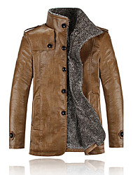 All Match Leather Thermal Coat