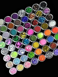 72st 72colors glitter nail art decoratie