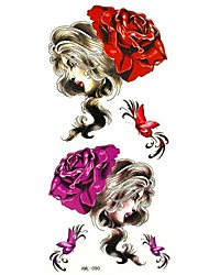 Waterproof Beauty Temporary Tattoo Sticker Tattoos Sample Mold for Body Art(18.5cm*8.5cm)
