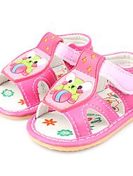 обувь для девочек комфорта в первую очередь пешеходов плоский каблук синтетические сандалии с Magic Tape обуви