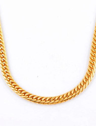 Fashion Simple Men's Gold/Silver Titanium Steel Chain Necklace