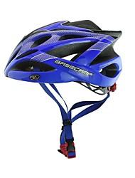basecamp® bc-007 nueva llegada de actualización de alta calidad ultraligero moldeado integralmente azul casco de bicicleta ajustable + negro + plata