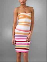 rayon airbrush tarja strapless vestido de cocktail curativo das mulheres pinkqueen®