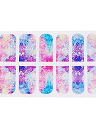 Nouvelle arrivée 3D Glitter Nail Sticker Autocollants Tradient auto Adhensive
