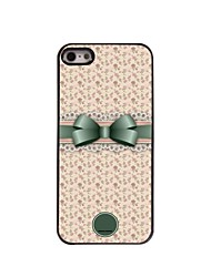 Personalized Gift Lovely Bowknot and Flower Design Metal Case for iPhone 5/5S