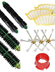 Bristle Brushes & Flexible Beater Brushes & Side Brushes & Filters & Brush Cleaning Tool for iRobot Roomba 500 Series