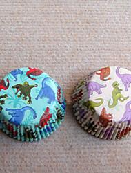 Dinosaur Pattern Cupcake Wrappers(2 Pattern)-Set Of 50