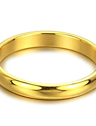 Contracted Smooth Golden Titanium Steel Female Ring