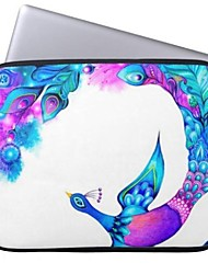 Elonbo Beautiful Peacock 13'' Laptop Neoprene Protective Sleeve Case for Macbook Pro/Air Dell HP Acer