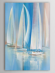Hand-Painted Landscape Vertical,Classic Modern One Panel Oil Painting For Home Decoration