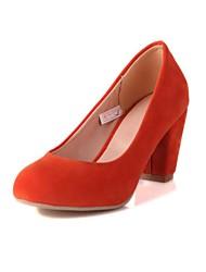 zapatos de las mujeres bombas punta redonda tacón grueso acuden zapatos más colores disponibles