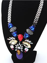 Masoo Women's Retro Jewel Flower Necklace