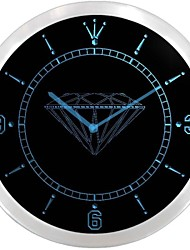 Diamond Shop Display Jewelry Neon Sign LED Wall Clock