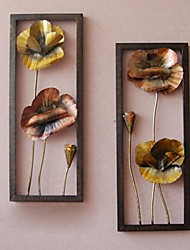 Metal Wall Art Wall Decor,Love Lotus Wall Decor Set Of 2