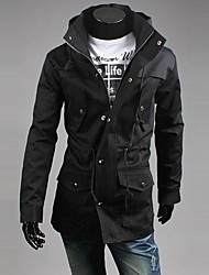 Lesen Men's Stand Collar Hoodie Fashion Casual High Quality Jacket O