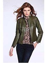 European Fashion à manches longues de couleur unie manteau de Kakani femmes