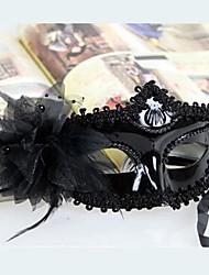 pena máscara de halloween festa a fantasia misteriosa (cores sortidas)
