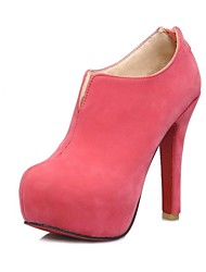 Women's Shoes Round Toe Stiletto Heel Ankle Boots with Zipper More Colors available