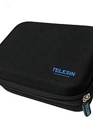 tamaño de la bolsa eva portátil telesin s cubre a prueba de golpes de protección para GoPro HD HERO 3 + 3 2 cámara negro